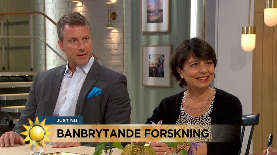 Årets pristagare och Niclas Öberg i TV4 Nyhetsmorgon